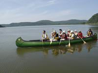 Canoe in Lake Abashiri
